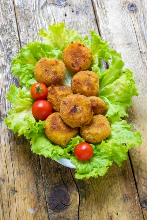 croquettes: Home made onion croquettes