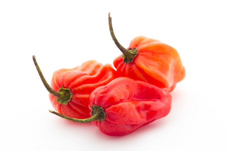 Habanero peppers Stock Photo