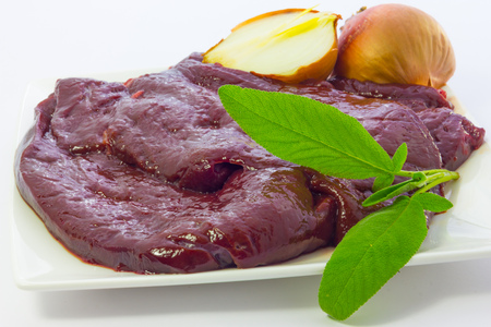Close up view of calfs liver photo
