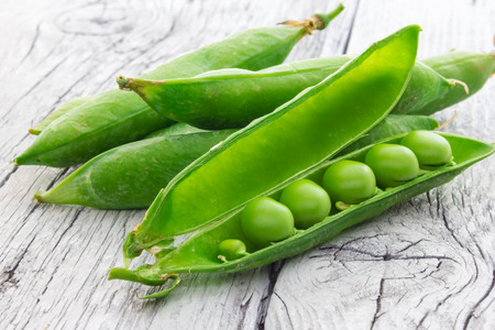 Some green peas Stock Photo