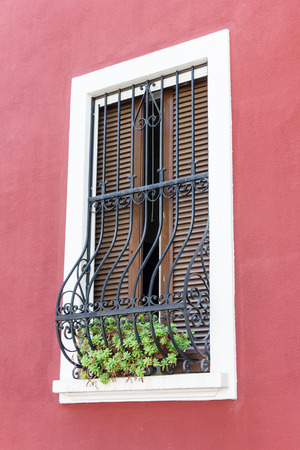 Windows with iron bars  photo
