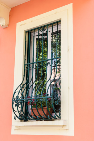 Windows with iron bars  photo