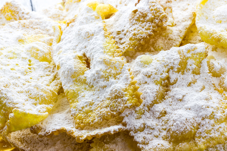 carnevale: Sfrappole di carnevale bolognesi from italy Stock Photo