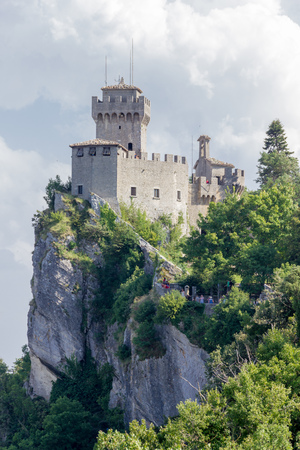 san marino: City of San Marino Stock Photo
