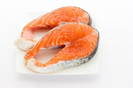 Salmon steak Standard-Bild