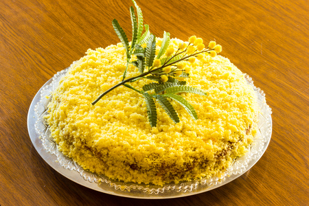 Colorfull and delicious mimosa cake
