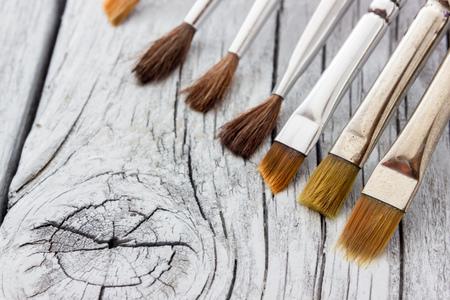 paintbrushes: old paintbrushes used