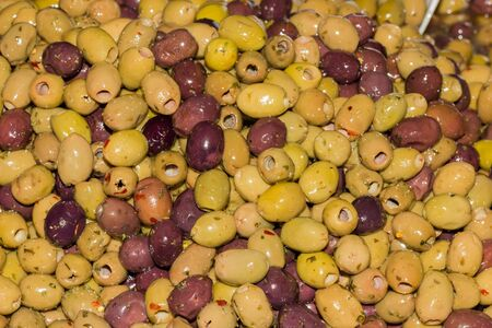 Bunch of tasty olive from italy photo