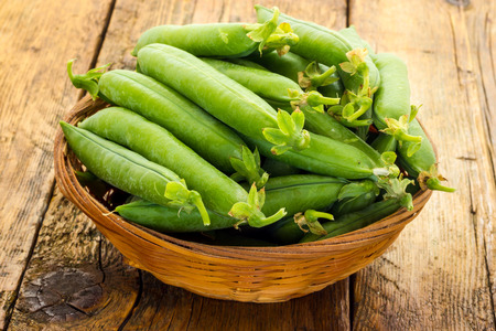 biologic: Bunch of biologic delicious green peas