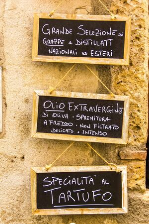 tuscan: Signs of Tuscan restaurants