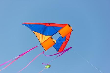 kite: Beautiful kites in a kite festival Stock Photo