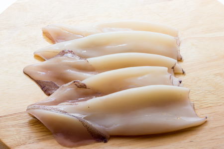 Uncooked cuttlefish