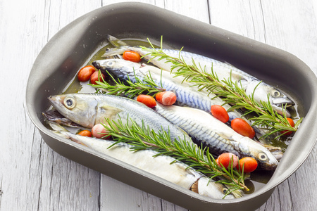 baked: Mackerel baked with tomatoes