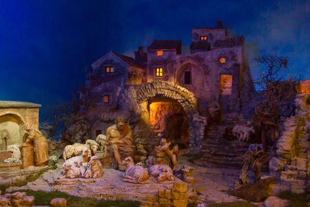 guarder�a: Hermosa Navidad Bel�n con figuras de terracota