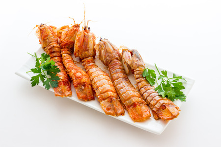 mantis: Mantis shrimps with tomatoes