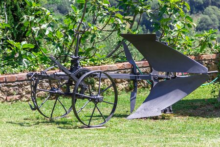 plough machine: Vintage plow