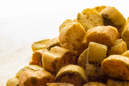 croutons: Croutons of bread