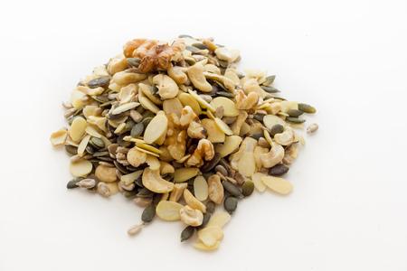 カボチャひまわりの種カシュー ナッツ 写真素材