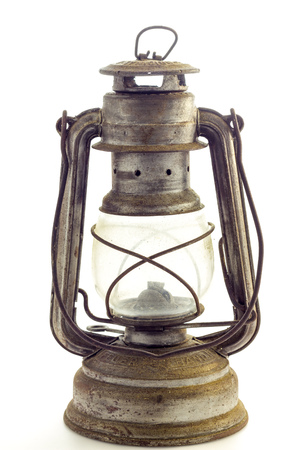lit lamp: Oil lamp Stock Photo