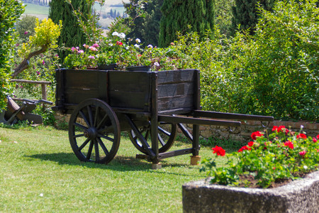 old wood farm wagon: Vintage cart