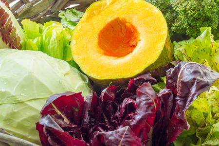 broccoli salad: Broccoli salad and pumpkin