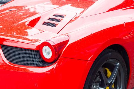 supercar: Red supercar