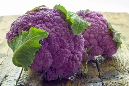 purple cauliflower Stock Photo
