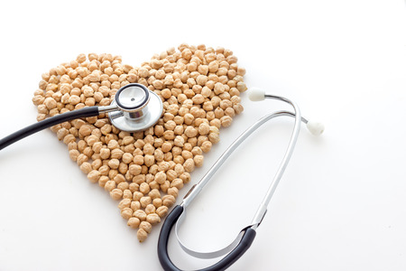 shaped: Chickpeas biological. Hearth shaped
