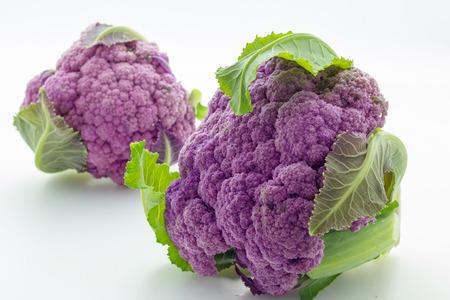 cauliflower: purple cauliflower Stock Photo