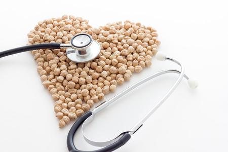 shaped: Chickpeas biological. Hearth shaped