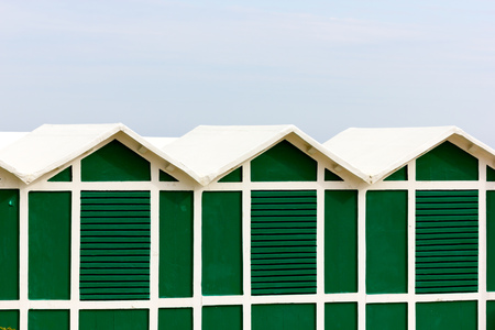 beach huts: Beach huts Stock Photo