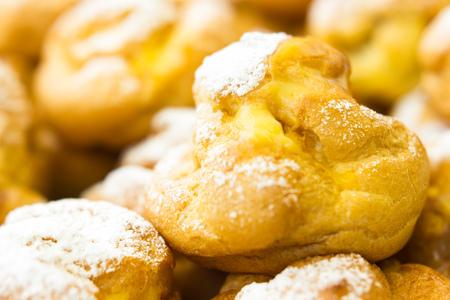 bigne: Bigne filled with egg cream