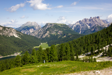 Mountain Trails Three Peaks Lavaredo Stock Photo