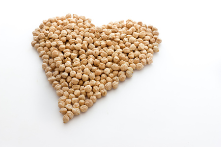 Chickpeas biological. Hearth shaped