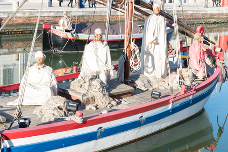 Nativity scene on the harbor of Cesenatico Italy