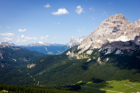Mountain Trails Three Peaks Lavaredo Banco de Imagens