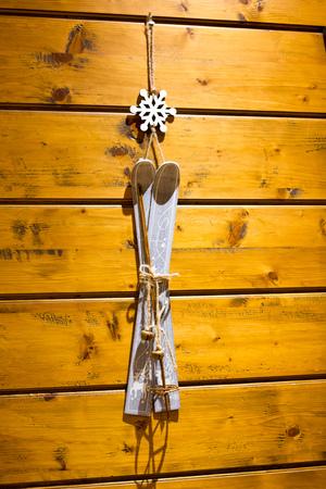 Decoration ski mountain Stock Photo