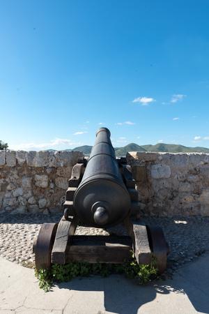 Ancient bronze cannon in Ibiza