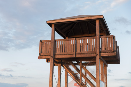 Wooden sighting tower