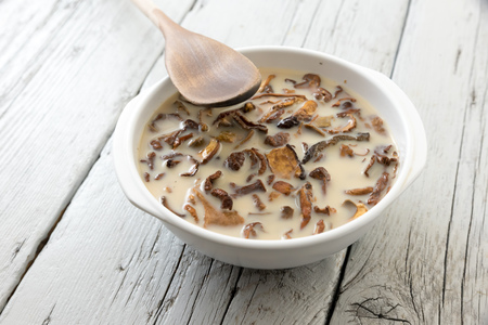 Cook the dried mushrooms