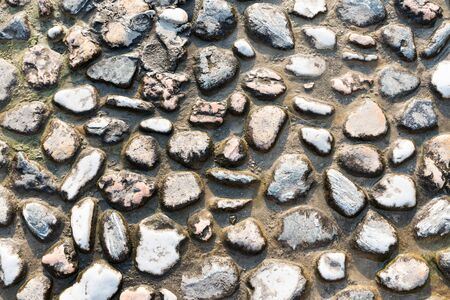 Texture of river stones