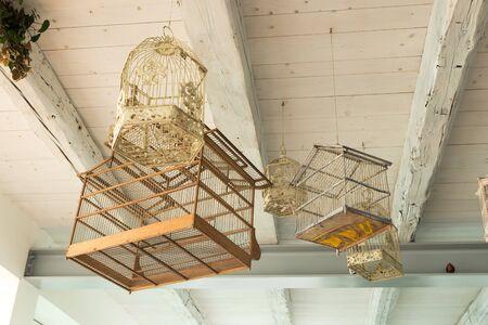 Empty bird cages