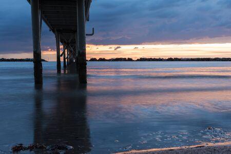Sunrise on the Adriatic Sea Stockfoto