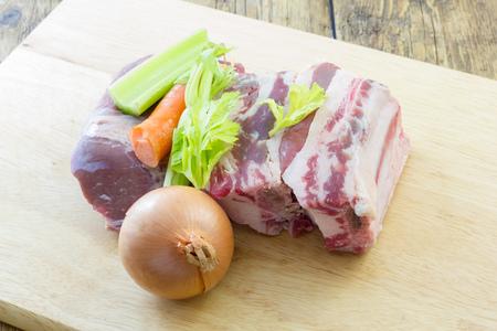 Prepared meat and vegetable broth