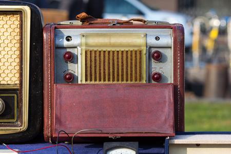 Vintage Radio tube in a flea market