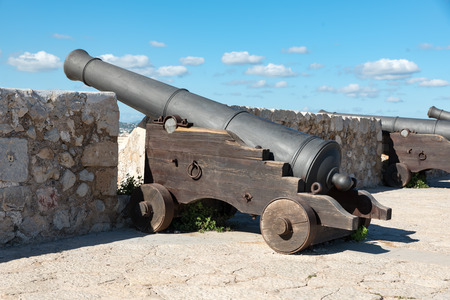 Ancient bronze cannon in Ibiza