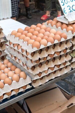 Egg market in Naples Imagens