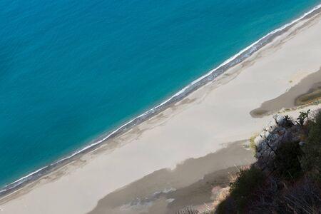 Beach at Tindari sicilia Italy Banco de Imagens