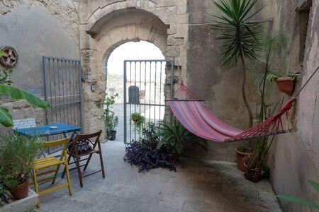 Typical Sicilian inner courtyard