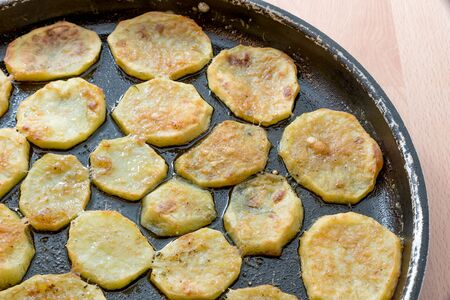 Fried potatoes in the oven